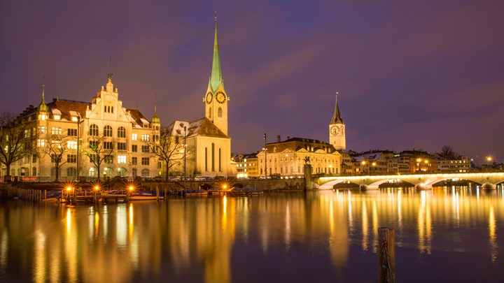 night time in zurich