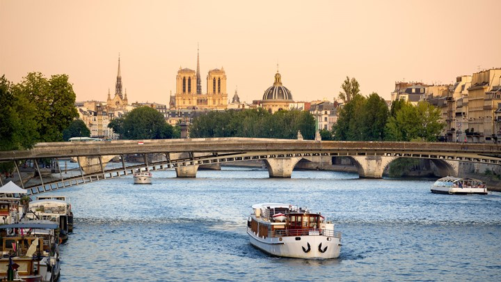 boats on the seine in paris